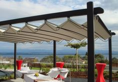 Gibus Group, leader in the production of awnings and pergolas for sun protection and energy saving Pavilion, Romania, Outdoor Structures, Patio, Country, Outdoor Decor, Home Decor, Littoral Zone, Decoration Home