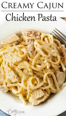 Easy Chicken Dinner Recipes, Chicken Pasta Recipes, Pork Recipes, Recipes Dinner, Creamy Cajun Chicken Pasta, Rice Recipes, Easy Healthy Dinners, Easy Healthy Recipes, Health Recipes