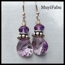 Pink Amethyst and Sterling Silver Earrings