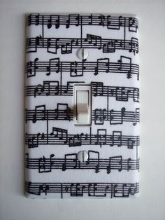 Musical Notes Single Toggle Switchplate switch plate $5.95 http://www.etsy.com/listing/103067041/musical-notes-single-toggle-switchplate?ref=v1_other_1
