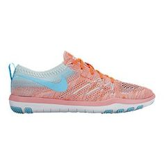 Nike Women's Free TR Focus FlyKnit Training Shoes - Pink/Light Blue