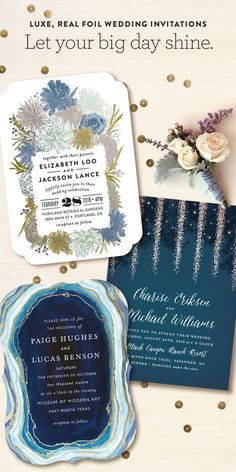 Minted is a community of independent artists, and they're loving luxe, real foil on wedding invitations and day-of pieces. Discover your favorites!