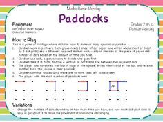 Teaching Maths with Meaning: Math Game Monday - It's Paddocks Time!