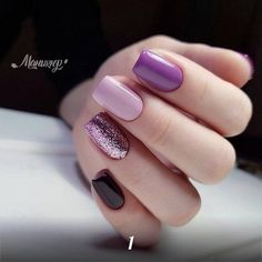 What Christmas manicure to choose for a festive mood - My Nails Fancy Nails, Trendy Nails, Cute Nails, Perfect Nails, Gorgeous Nails, Hair And Nails, My Nails, Gelish Nails, Purple Nails