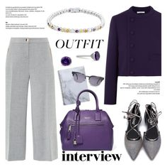 """""""60-Second Style: Job Interview"""" by blossom-jewels ❤ liked on Polyvore featuring Ted Baker, Carven, Marc Jacobs, GlassesUSA, jobinterview, 60secondstyle and Blossomjewels"""