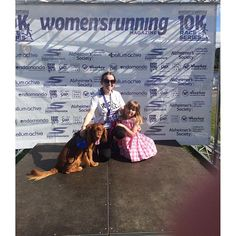 I don't know my time yet but I did it without stopping :) Here's me posing with my niece and Buddy. #10krace #thisgirlcan #running #facelookslikeabeetroot  My niece was happier than she looks in this photo I promise.