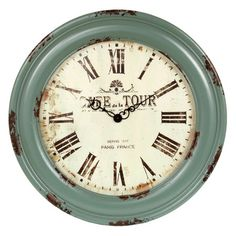 I pinned this Alincourt Wall Clock from the LuLucinda Décor event at Joss & Main!  Love these vintage/cottage clocks.
