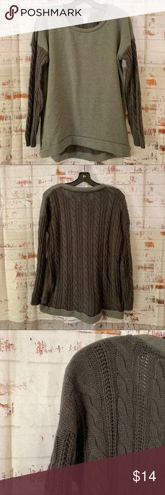 5f54ee7a9449 Forever 21 sweater Forever 21 long Sweater with knit on the back and  sleeves Color