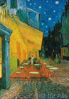 Vincent van Gogh - The Café Terrace at Night If you visit Arles, France, you ca see where this cafe was.