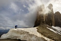 Photographer - Tre Cimme by MORKES  landscape mountains travel clouds europe italy rocks beautiful snow italia alps beautiful place land