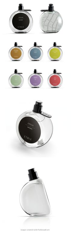 Map embedded ETNIA fragrance packaging PD One sniff and you are transported to another country.