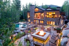 Resorts With the Sexiest Fire Pits | HGTV Deck Fire Pit, Garden Fire Pit, Fire Pits, Outdoor Spaces, Outdoor Living, Outdoor Decor, Outdoor Bars, Outdoor Pergola, Outdoor Ideas
