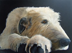 Dogs in Art at the StockBridge Gallery -   Taking It Easy Giclee Print by Nina Harvey, SOLD (http://www.dogsinart.com/products/--Taking-It-Easy-Giclee-Print-by-Nina-Harvey.html)