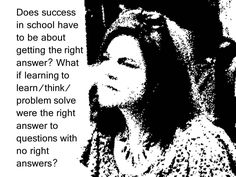 "https://flic.kr/p/Er5V78 | Educational Postcard: ""Does success in school have to be about getting the right answer?...."" 