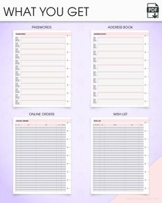 """Print planner inserts out as many times as you need and add them to your CLASSIC HAPPY PLANNER™, or any other disc binder 7x9.25"""".  This printable set of lists are a must-have for anyone trying to organize many areas of life in one planner. • Address book. Organize all your contact"""