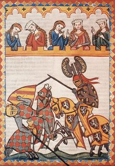 Rules of Medieval Jousting Medieval Life, Medieval Art, Renaissance Art, Medieval Knight, Medieval Manuscript, Illuminated Manuscript, Caballero Andante, Courtly Love, Medieval Paintings