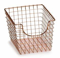 Metal Wire Basket - Copper in Wire Baskets