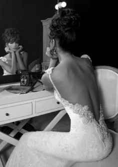 Backless Wedding Dress Gown - An Inbal Dror creation from her Haute Couture 2012 Collection that we can't help but to adore! Show off your back in this lace backless wedding dress. I want another wedding . To the same man . Open Back Wedding Dress, Lace Wedding Dress, Lace Dress, White Dress, Bridal Dresses, Party Dresses, Inbal Dror Wedding Dress, Detailed Back Wedding Dress, Slim Wedding Dresses
