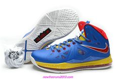 buy online 66bef 492e0 Lebron 10 Lebron James Shoes 2013 Royal Blue Varsity Red Yellow 541100 001  Running Shoes Nike