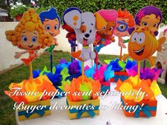 Bubble Guppies centerpiece out of wood for by uniqueboutiquebygami, $72,00