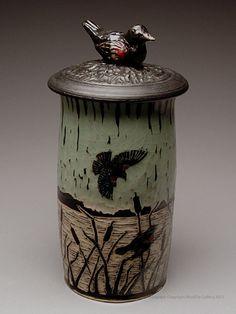 Judy Cutchins Lidded Jar at MudFire Gallery
