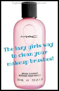 Hug, Kiss, Makeup!: Mac Brush Cleanser: the lazy way to clean your brushes!