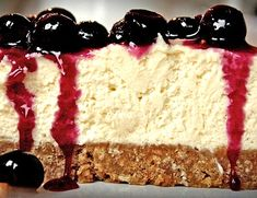Lemon Blueberry Cheesecake. Oh my.  This looks divine.  Probably my second favorite dessert ingredient....blueberries!  Love the extra thick crust!