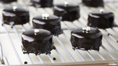 How to make the perfect Chocolate-Glazed Petits Fours by Anna Olson on Food Network UK.