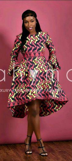 Posh African Print High- Low dress PINK. Ankara | Dutch wax | Kente | Kitenge | Dashiki | African print dress | African fashion | African women dresses | African prints | Nigerian style | Ghanaian fashion | Senegal fashion | Kenya fashion | Nigerian fashion | Ankara crop top (affiliate)