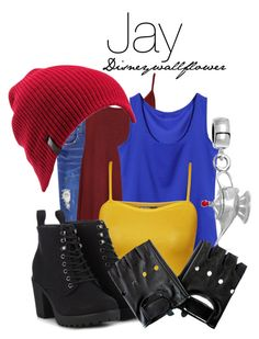 A fashion look from July 2015 featuring chiffon tank, sheer shirts and red vest. Browse and shop related looks. Descendants Costumes, Disney Descendants, Disney Inspired Fashion, Disney Fashion, Sleepover Outfit, Pixar, Disney Themed Outfits, Estilo Disney, Character Inspired Outfits