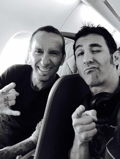Sully Erna and Shannon Larkin