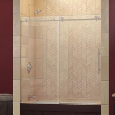 DreamLine Enigma-X 56 to 59 in. W x 62 in. H Frameless Sliding Tub Door in Brushed Stainless Steel-SHDR-61606210-07 - The Home Depot