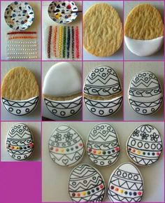 Paint your own cookies for Easter