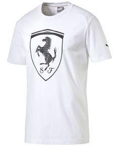 Puma Ferrari Graphic Tee In White Free T Shirt Design, Tee Design, T Shart, Camisa Polo, Puma Mens, Tshirts Online, Mens Tees, Cool T Shirts, Ferrari