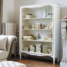 how I would love to own a bookshelf on legs...