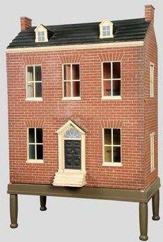 antique dollhouse, beautiful brick work.  Rick Maccione-Dollhouse Builder www.dollhousemansions.com