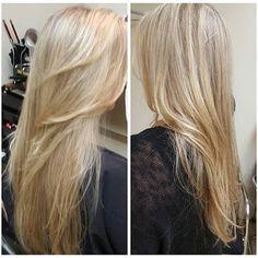 Root re fresh Highlights  with Schwarzkopf Blonde me & some add in  Beige tones by Schwarzkopf, Conditioning was  Phiten Bella ( Yuko) moisture treatment & Olaplex in lightener as a treatment always !