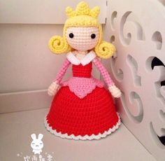 Princess Doll - Picture Only #amigurumi #doll #princess