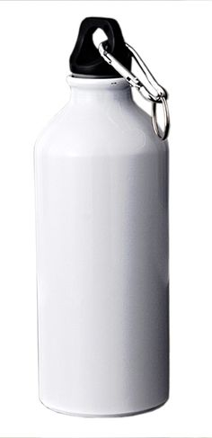 White-Sports-Bottle-with-Carabiner
