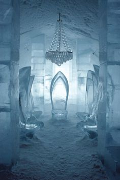 Ice, Ice Baby! Wow - I would LOVE to stay here! The Ice hotel in Sweden  - unbelievably cool! (pun intended)