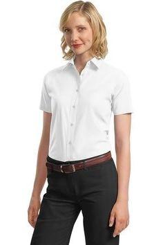 Port Authority Ladies Short Sleeve Value Poplin Shirt Port Authority. $16.18