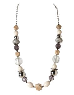 Long Mixed Bead Necklace