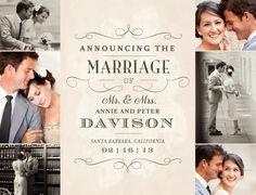 Marriage Telegram Wedding Announcement - weddingpaperdivas.com