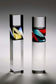 Vlastislav Janacek - Jewels of Optic Glass Fused Glass, Stained Glass, Art Of Glass, Cut Glass, Design Floral, Wow Art, Glass Ceramic, Sculpture, Bottle Design