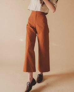 Sandi Pants in Rust Canvas