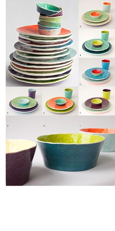 like the wonky shape & unexpected color combinations  #place setting #entertaining #registry
