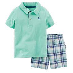 Carter's Polo Shirt & Plaid Shorts Set - Baby