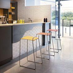 Mobilier restaurant bar hotel : tabourets de bar design Estrosa Tab - Sledge