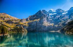 Góry, Jezioro, Łodzie, Ludzie