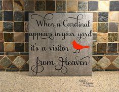 In Loving Memory Gift When a Cardinal appears by LettersbyLaurie
